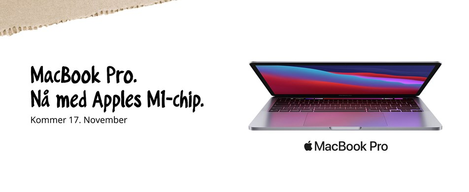 MacBook Pro. Nå med Apples M1-chip.