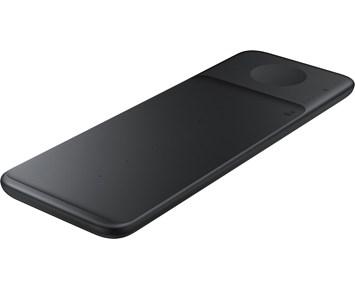 Samsung Wireless Charger Trio Black Trådløs ladeplate fra