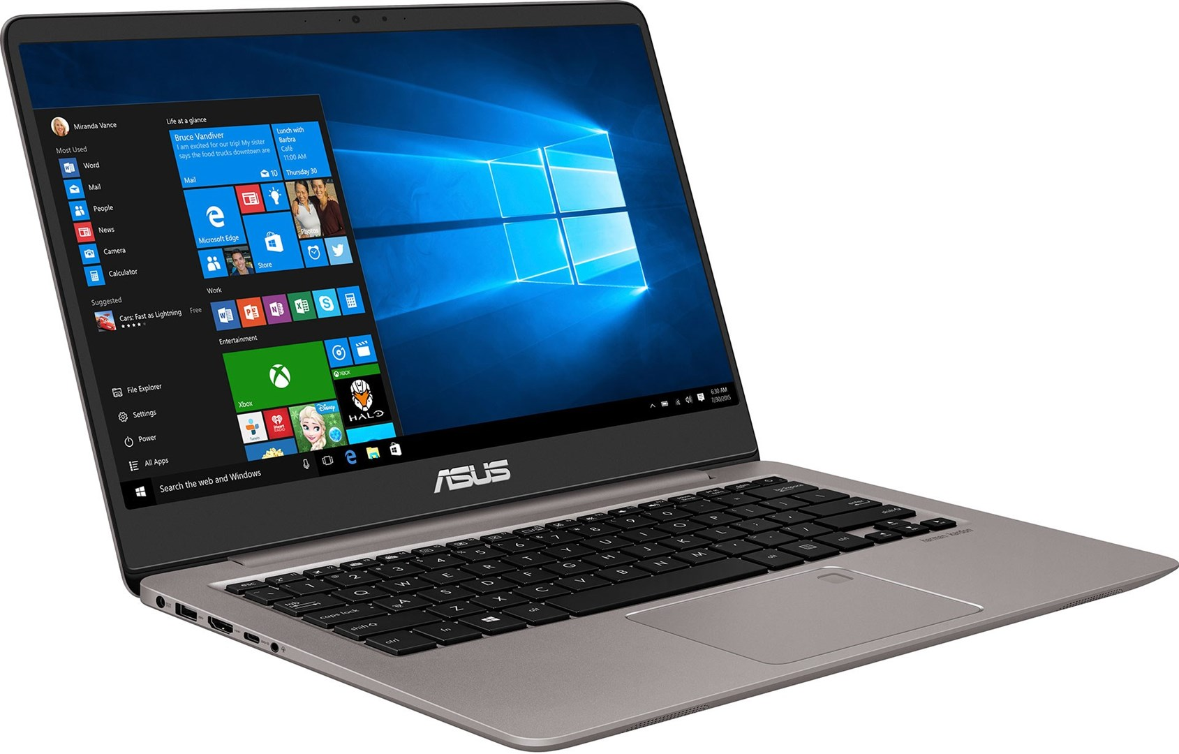 asus zenbook ux410uq gv033t lekker 14 laptop med. Black Bedroom Furniture Sets. Home Design Ideas
