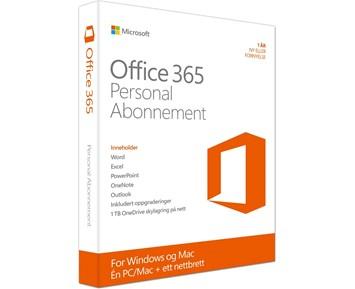 Microsoft Office 365 Personal Norge - Microsoft Office 365, lisens for en PC/Mac og ett nettbrett