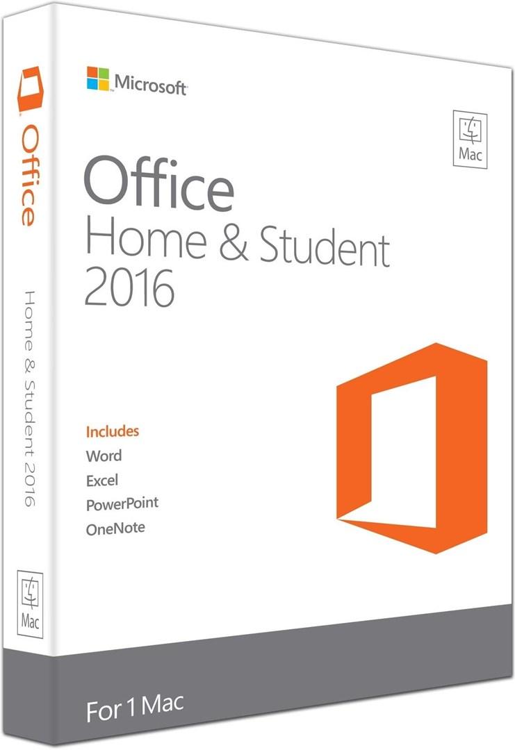 microsoft office mac home student 2016 office home student 2016 for hjem og skole til mac. Black Bedroom Furniture Sets. Home Design Ideas