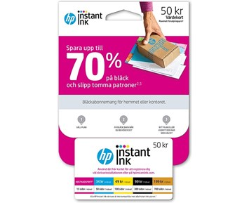 HP Instant INK Card NO