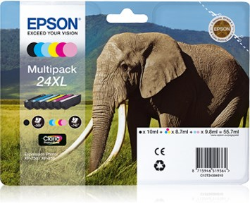 Epson Elephant Ink 24 XL Multipack