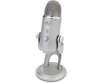 Blue Yeti Podcaster Microphone Silver Mikrofon