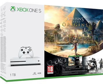 Microsoft Xbox One S 1TB + Assasins Creed Origins