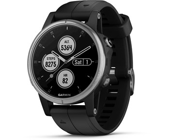 Garmin Fenix 5S Plus Silver with Black Band