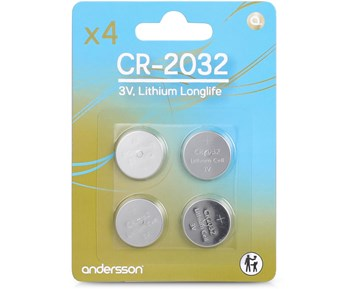 Andersson CR2032 Long life 4pcs