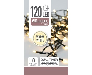Others Led lights 120 warm white dual timer