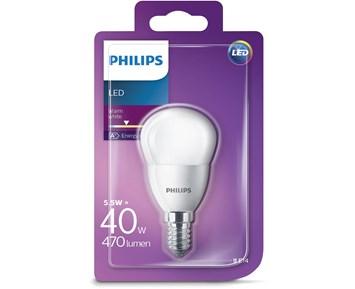 Philips Led pære (5.5W)40W E14 frostet