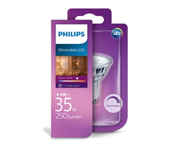 Philips LED spot 4.4W (35W) GU10 dim