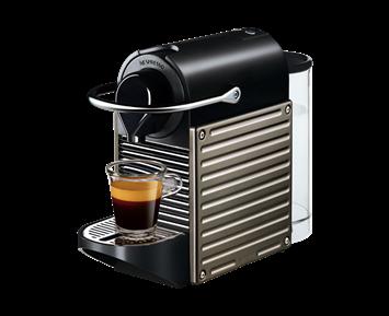 Nespresso Pixie Electric Titan C60 Kompakt Nespresso Kapselmaskin