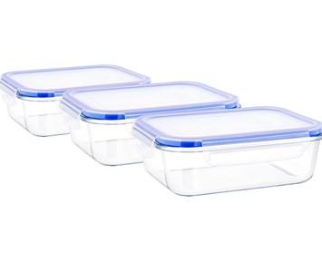 Matboks i glass, 3 stk perfekt for piknik