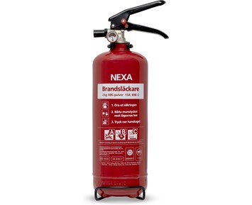 Nexa Brannslukningsapparat Rød 2 kg