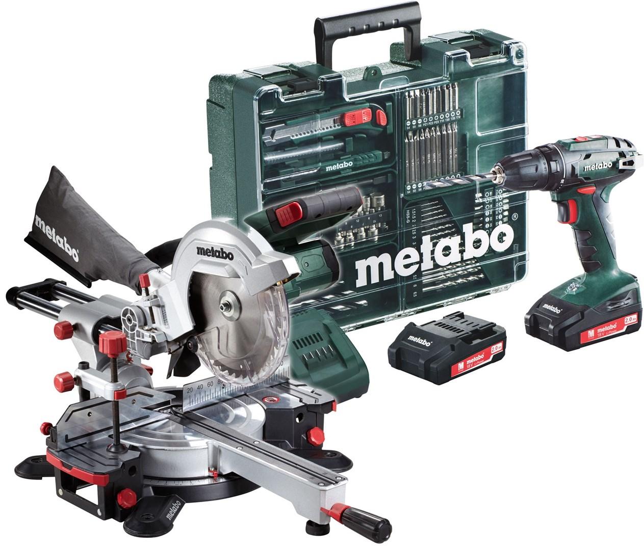 metabo kgs 18 ltx 216 solo bs 18 2x pakke med kapp og gj rsag og borskrutrekker med stor. Black Bedroom Furniture Sets. Home Design Ideas