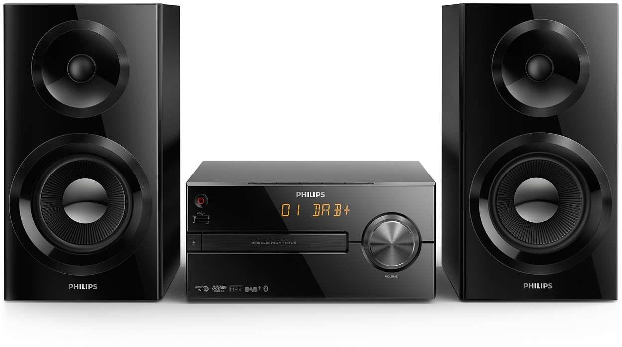 Mikrosystem med både Bluetooth og CD spiller