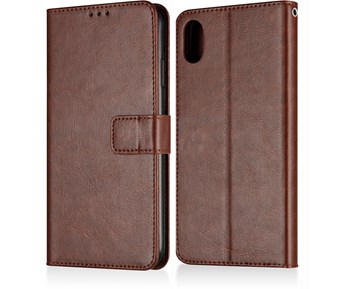 Andersson Premium Wallet Case Brown for iPhone XS Max