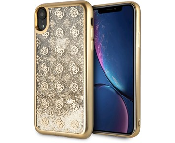 GUESS Peony Liquid Glitter Gold for Apple iPhone XR