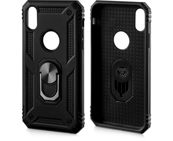 Limited Label Protection Case w/ Stand Black for iPhone XR