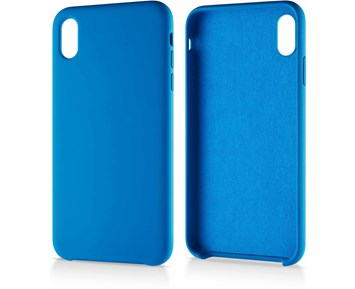 Andersson Silicone Case w/ Microfiber Blue for iPhone XS Max