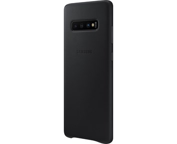 Samsung Leather Cover Galaxy S10+ Black