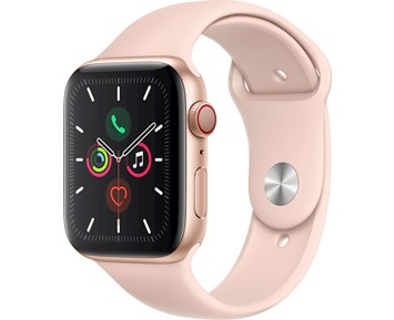 Apple Watch Series 5 GPS + Cellular, 44mm Gold Aluminium Case with Pink Sand Sport Band
