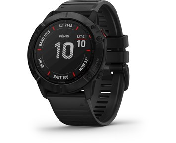 Garmin Fenix 6X Pro Black w/Black Band