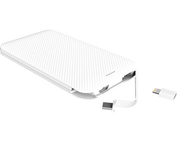 Andersson Powerbank 5.000 White Lightning/Micro-USB