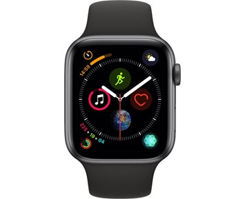 Apple Watch Series 4 GPS + Cellular, 44mm Space Grey Aluminium Case with Black Sport Band