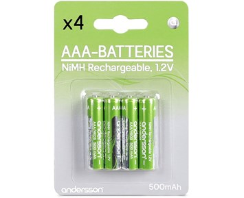 Andersson HR03 AAA 1,2V 500mAh