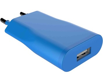 ON Wall charger 1xUSB 1A Palace Blue