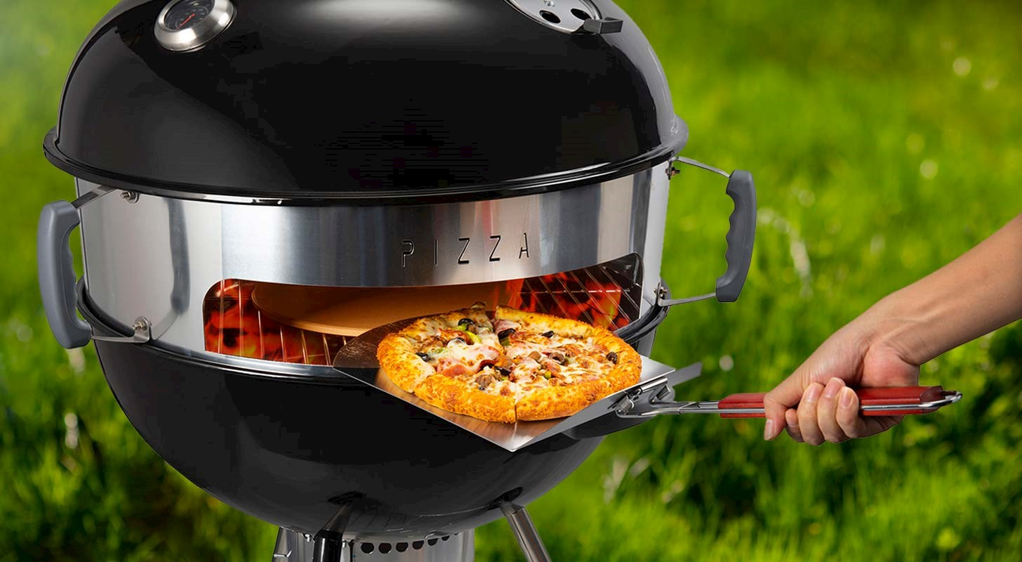 Kullgrill med pizzainnsats