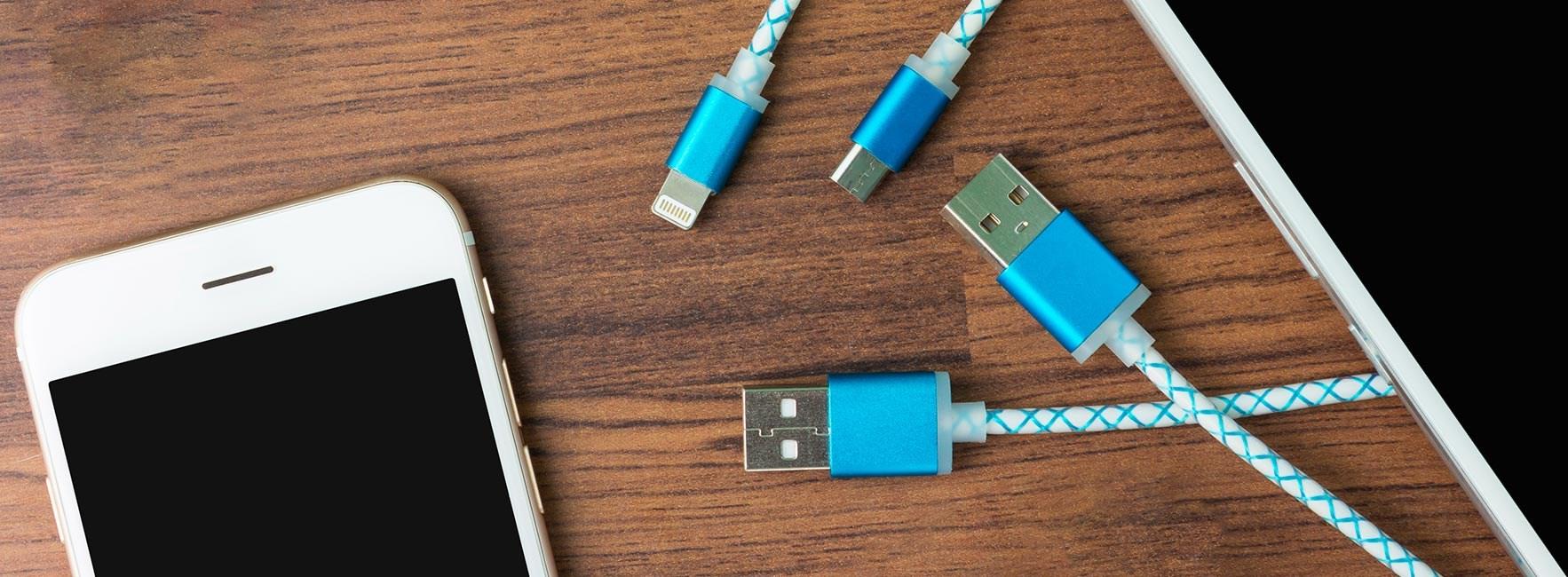 Lad mobil og nettbrett via USB