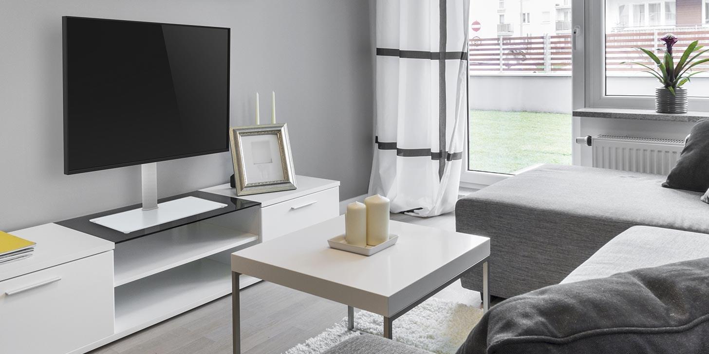 Plassering av TV på bordstativ