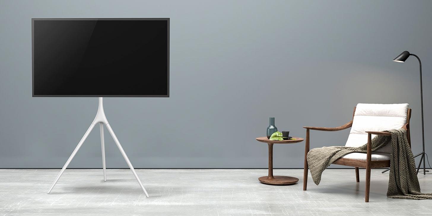 Plassering av TV på gulvstativ