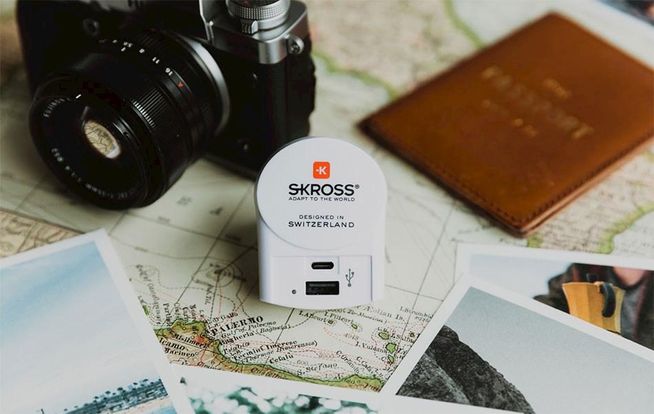Reiseadapter med USB