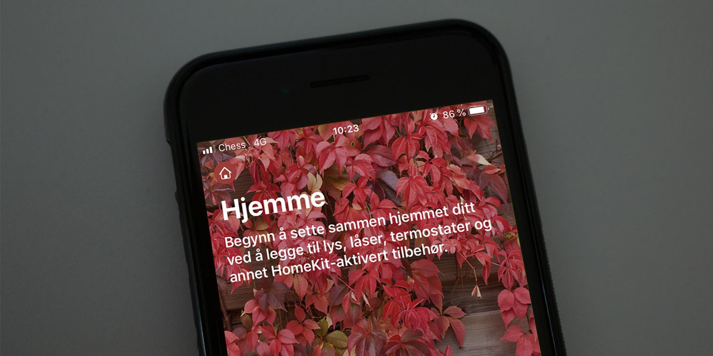 Apple HomeKit startskjerm