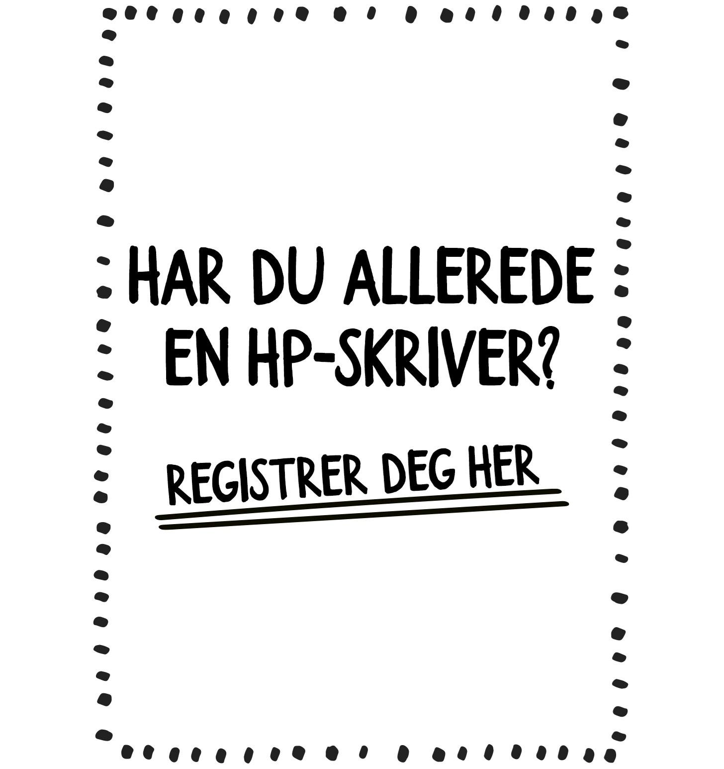 Registrer HP-printeren din her