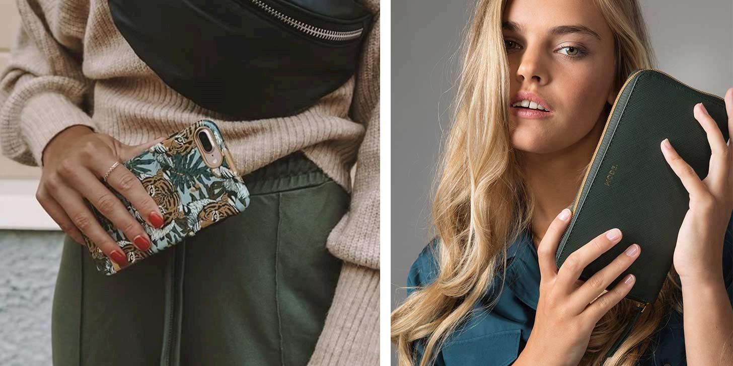 Trendy deksler og lommebokfutteral