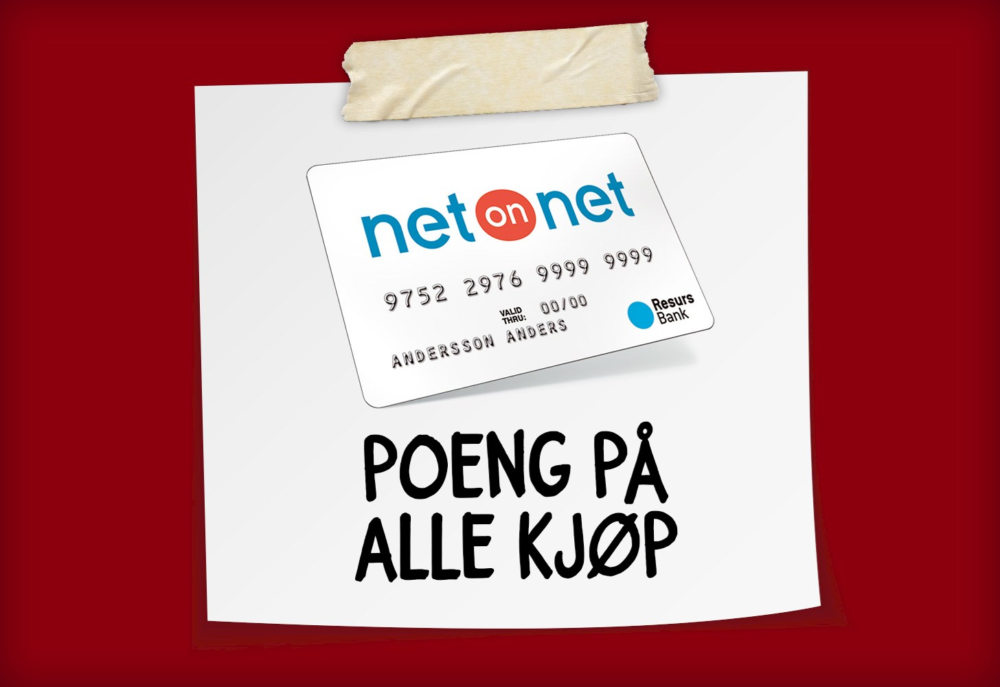 Del opp betalingen med NetOnNet-kortet